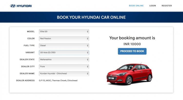 Hyundai India now accepting online bookings i20