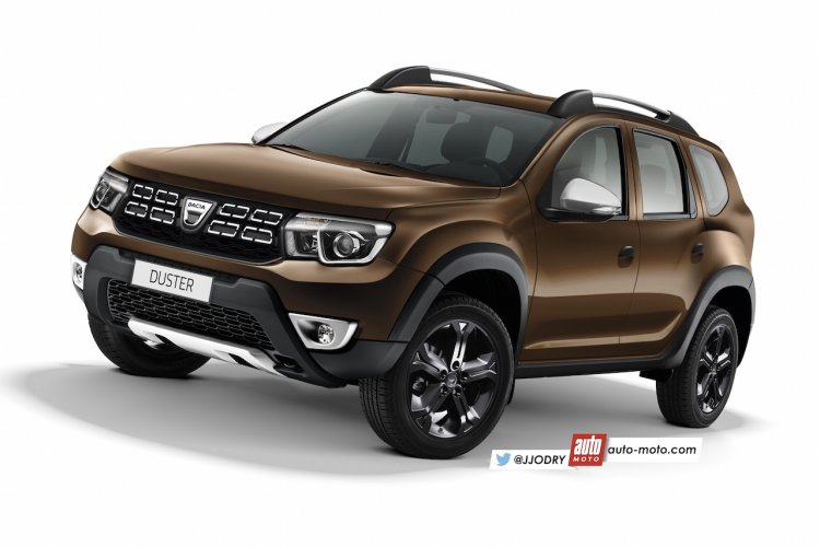 2017 Dacia Duster new model second generation rendering
