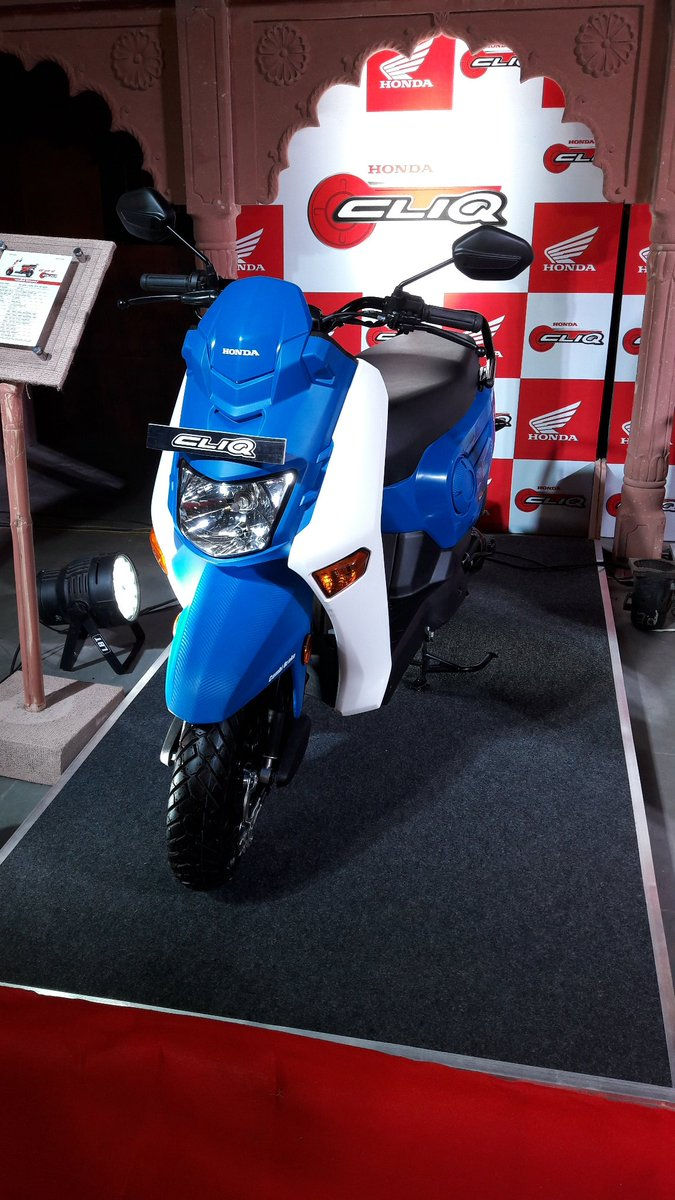 Honda Cliq launch India front three quarter