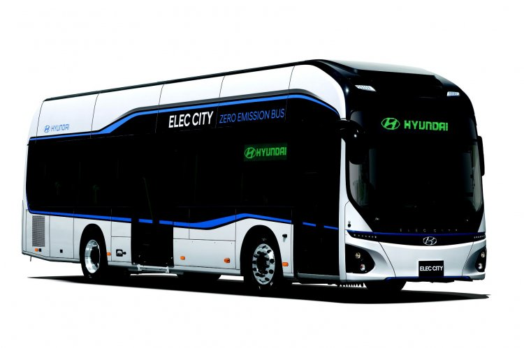 Hyundai Motor unveils all electric commercial bus side in Korea