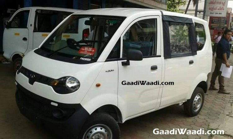 Mahindra Jeeto van front three quarter spied undisguised first time