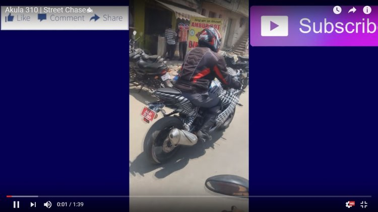 TVS Apache RR 310S spy video handling