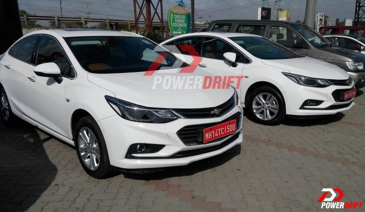 Chevrolet Cruze Spotted in India Front