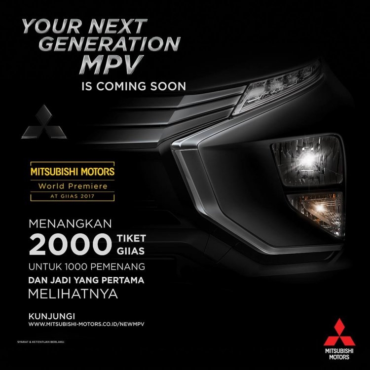 Mitsubishi Expander (Mitsubishi XM production) tease headlamp and bumper
