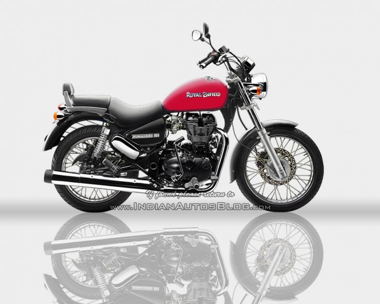 Royal Enfield Thunderbird 350 Redditch red - IAB Rendering