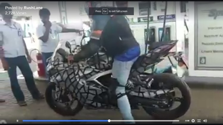 TVS Apache RR 310S spy video petrol station