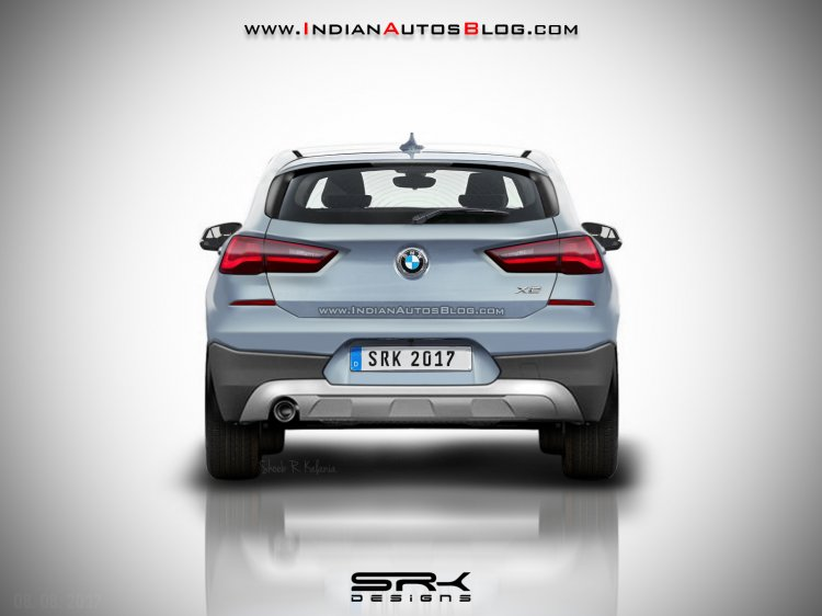 BMW X2 production rear render