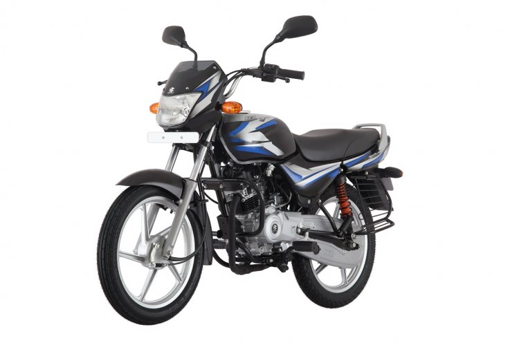 Bajaj CT100 ES Alloy front left quarter