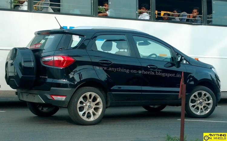 2017 Ford EcoSport facelift spotted in Panther Black Titanium trim