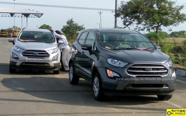 2017 Ford EcoSport facelift spotted in Smokey Grey and Moondust silver