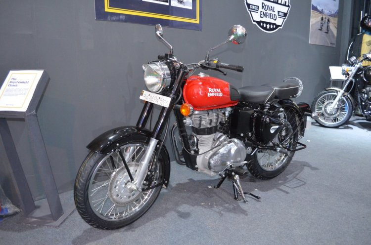 Royal Enfield Classic 350 Redditch Red at the Nepal Auto Show 2017