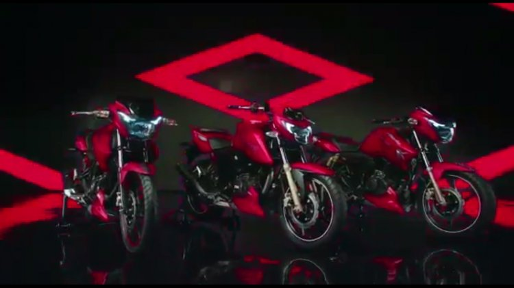 TVS Apache RTR 160 and TVS Apache RTR 180 matte red