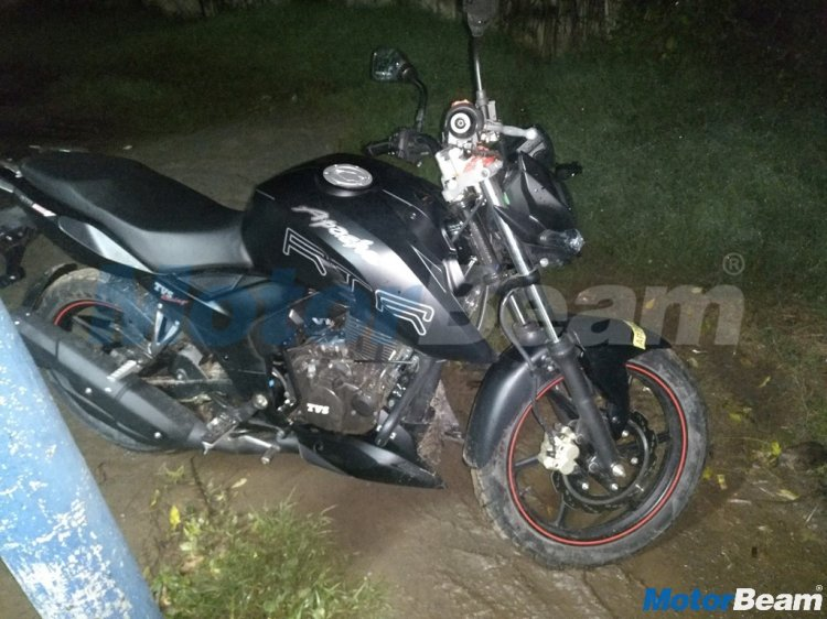 2018 TVS Apache RTR 160 spied with Apache RTR 200 body