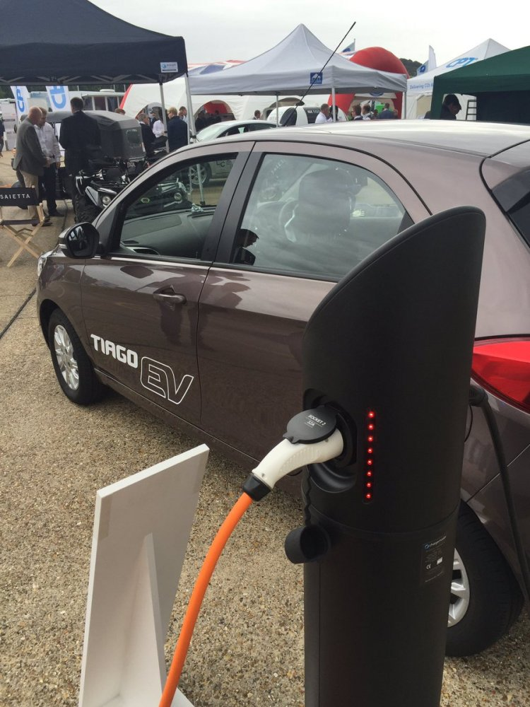 Tata Tiago EV at revealed at LCV2017 in the UK
