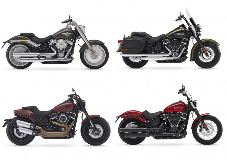2018 Harley Davidson Fat Boy, Heritage Classic, Fat Bob, and Street Bob