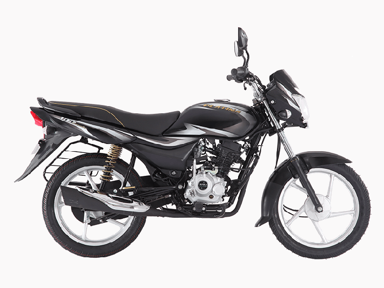 New Bajaj Platina ComforTec press shot right side