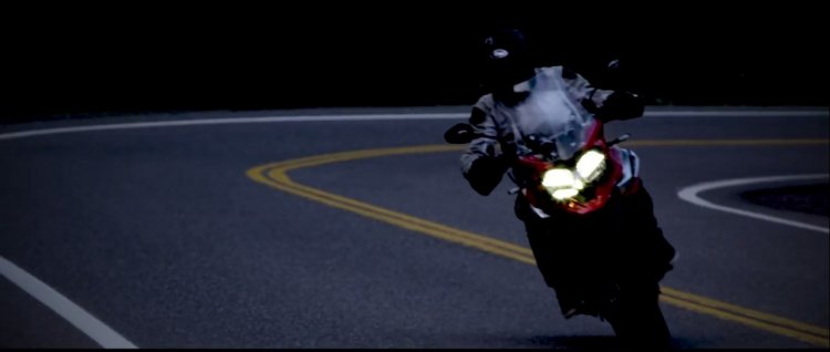 New Triumph Tiger teased front