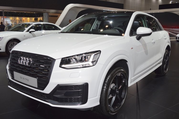 Audi Q2 front three quarters at 2017 Dubai Motor Show