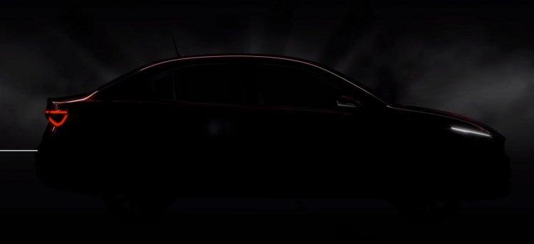 Fiat Cronos teaser image side profile