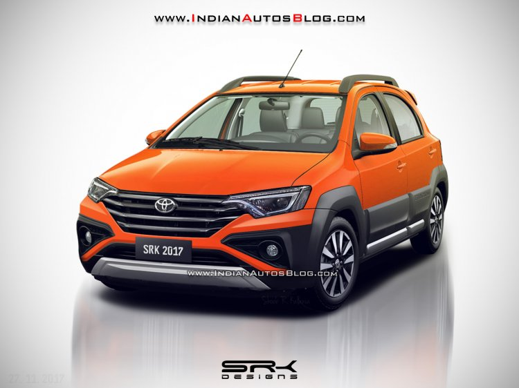 Toyota Etios Cross facelift rendering