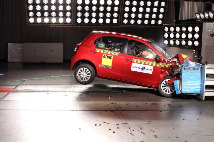 Toyota Etios (Liva) crash test South Africa