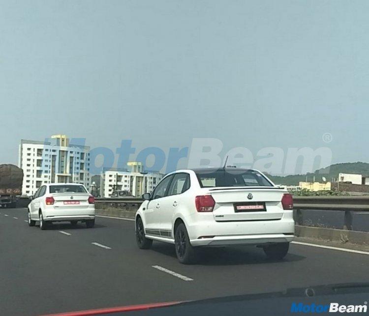 Volkswagen Ameo sport spied