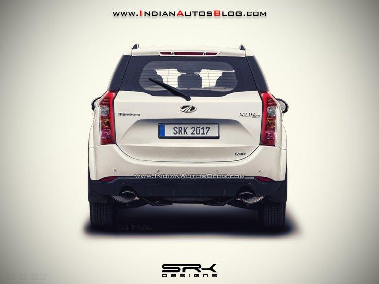 2018 Mahindra XUV500 facelift rear rendered
