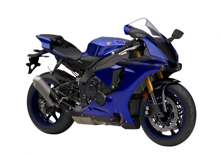 2018 Yamaha YZF-R1 press shot Blue front right quarter