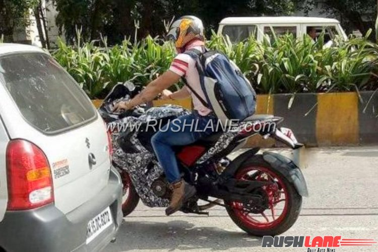 Bajaj Pulsar RS200 Red colour variant spied