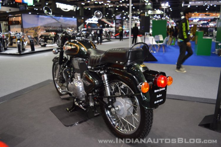 Royal Enfield Bullet 500 rear left quarter at 2017 Thai Motor Expo