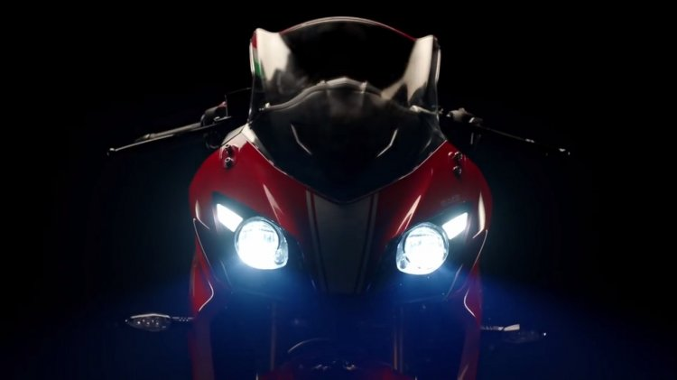 TVS Apache RR 310 Teased headlights