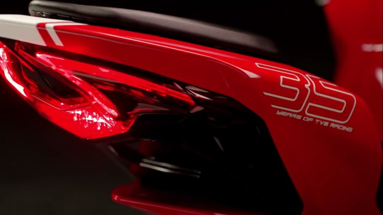 TVS Apache RR 310 Teased tail section