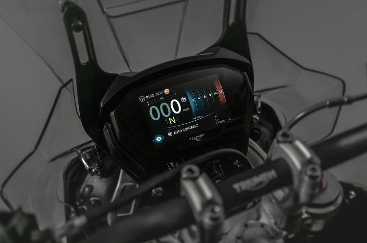 2018 Triumph Tiger 800 press instrument cluster