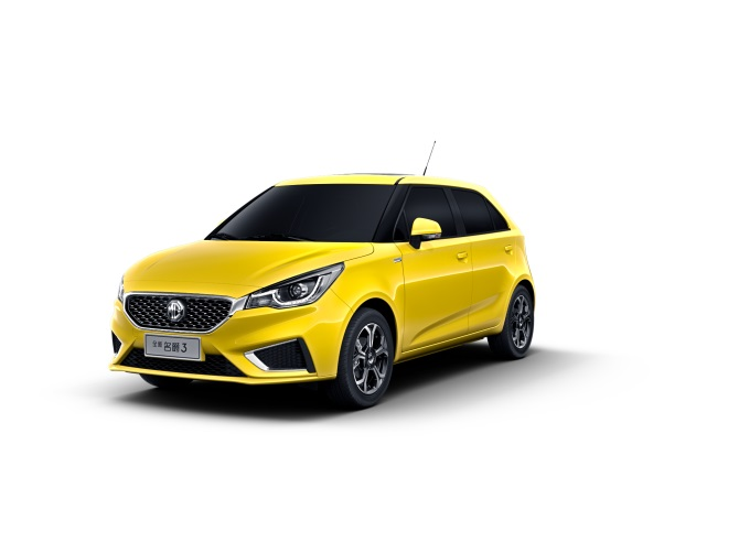 MG 3 facelift front three quarters