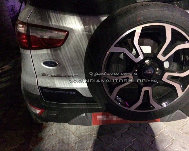 Ford EcoSport Signature edition spotted