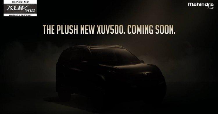 2018 Mahindra XUV500 facelift teaser