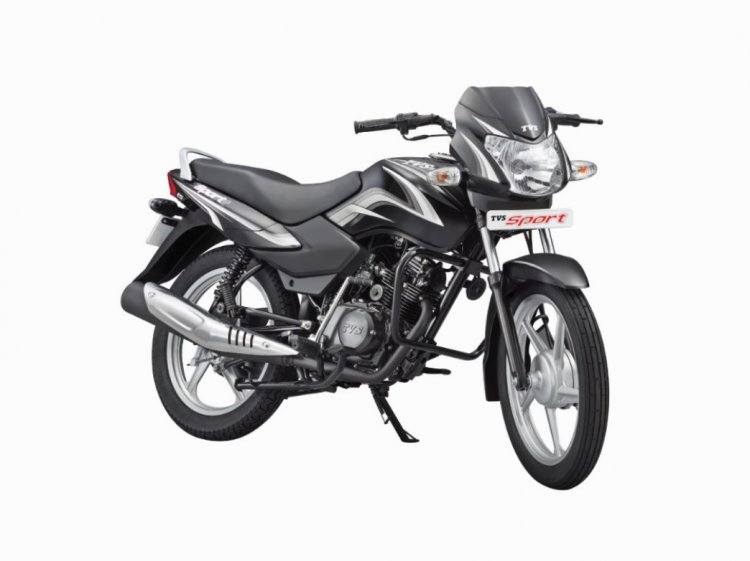 TVS Sport Silver Alloy Edition Black press shot