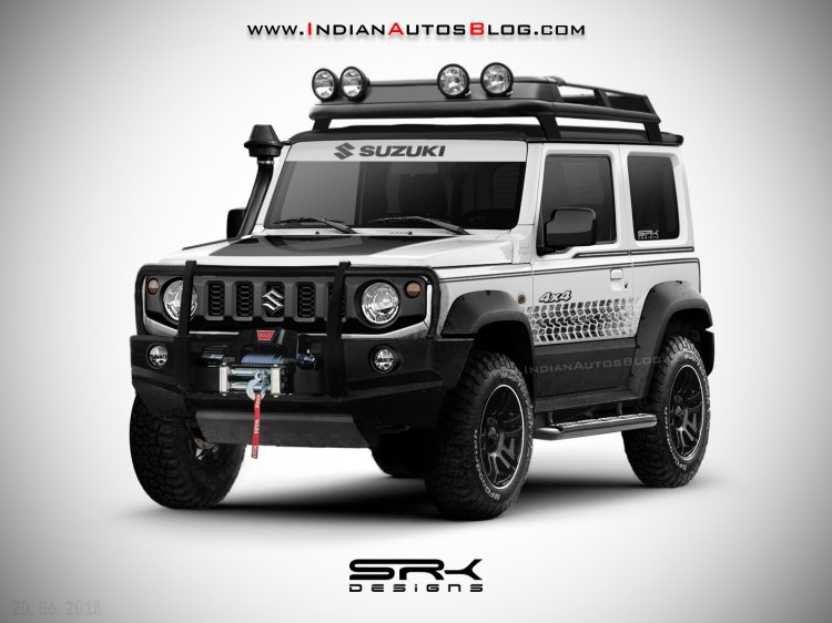 New Suzuki Jimny off-road IAB rendering