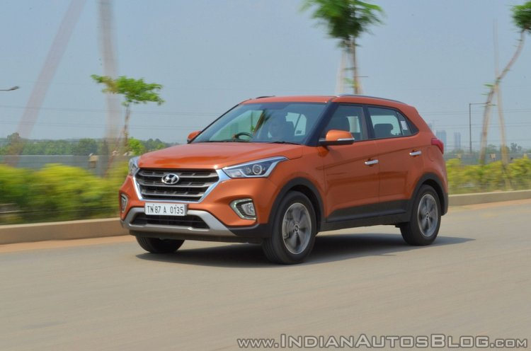2018 Hyundai Creta facelift review front three quarters motion