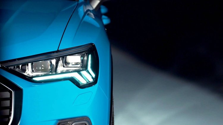 2019 Audi Q3 headlamp teaser