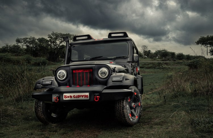 Modified Mahindra Thar by Reddy customs front