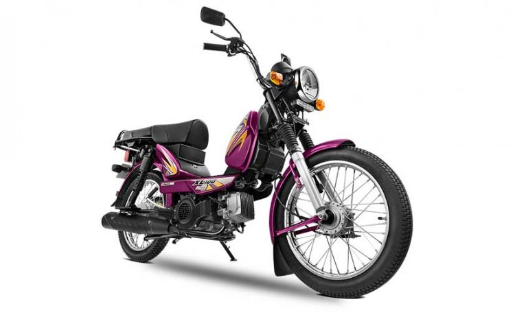 TVS XL 100 heavy duty front right quarter