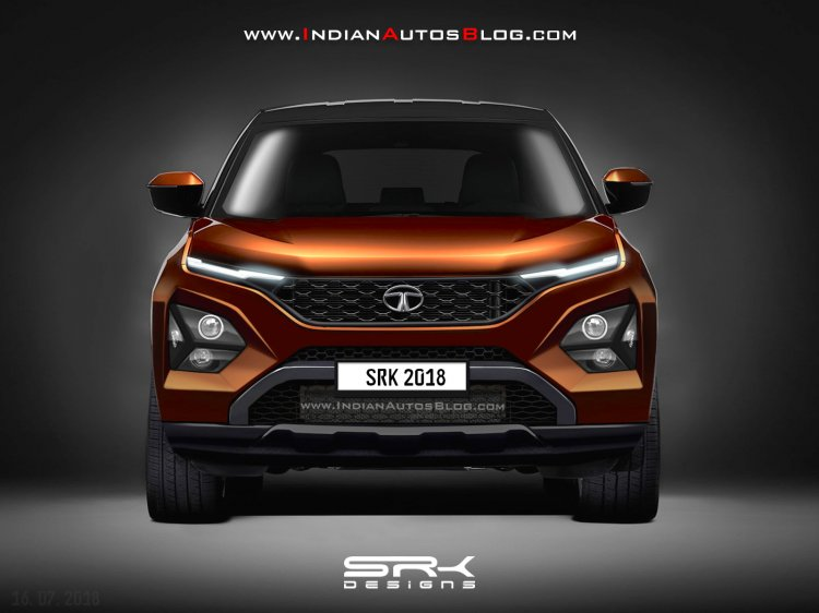 Tata Harrier rendering front view