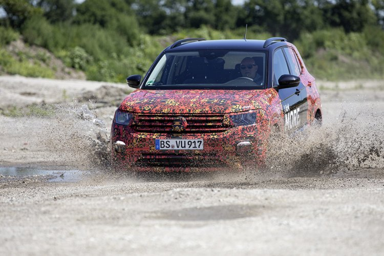 VW T-Cross prototype action shot