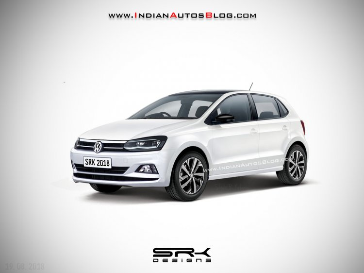 2019 volkswagen polo facelift rendering images