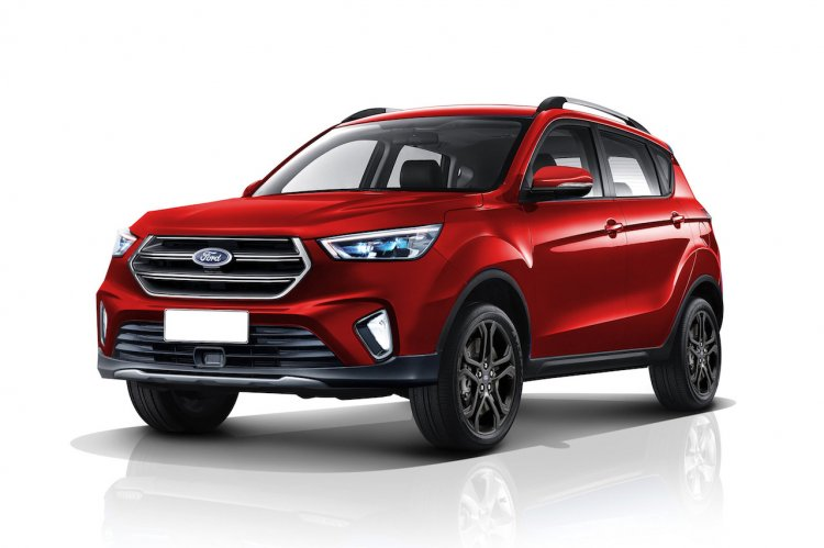 2020 Ford Ecosport front three quarters rendering