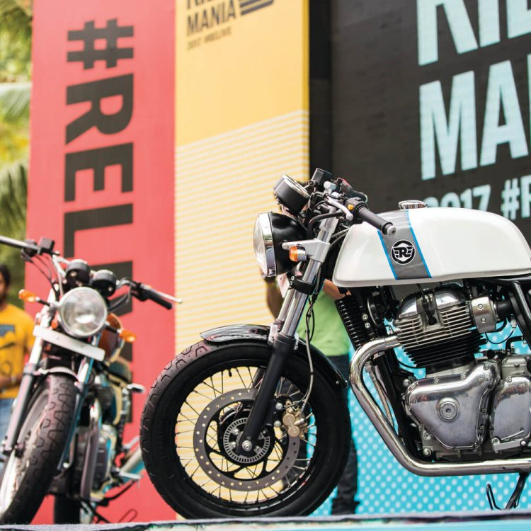 royal enfield continental gt 650 and interceptor 650 at Rider Mania 2017 press image