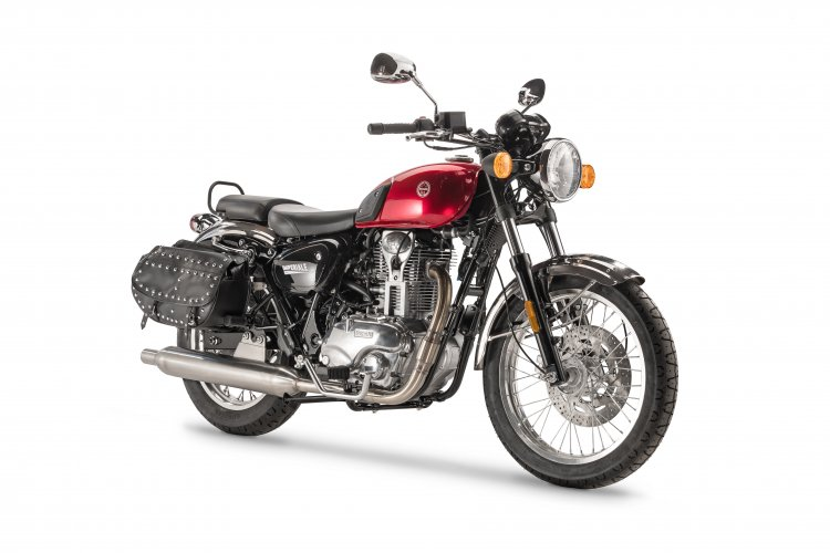 Benelli Imperiale 400 press image right front quarter