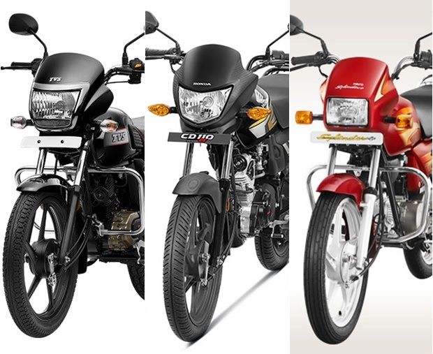 TVS Radeon vs. Honda CD 110 Dream DX vs. Hero Splendor Plus
