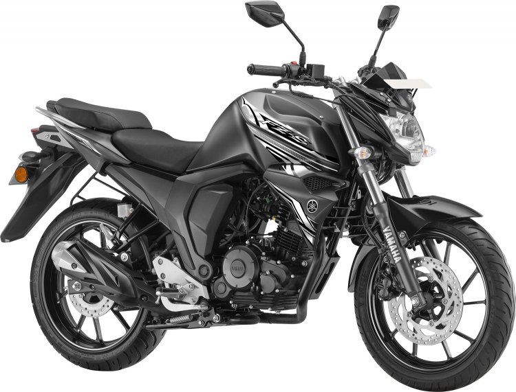 Yamaha FZS FI rear disc DARKNIGHT colour variant